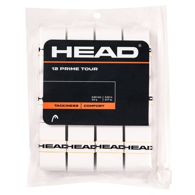 Head Prime Tour Overgrips 12 Pack - White