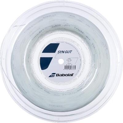 Babolat Syn Gut Tennis String 200m Reel - White