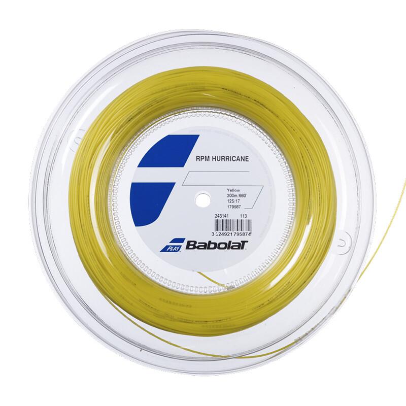 Babolat RPM Hurricane Tennis String 200m Reel - Yellow