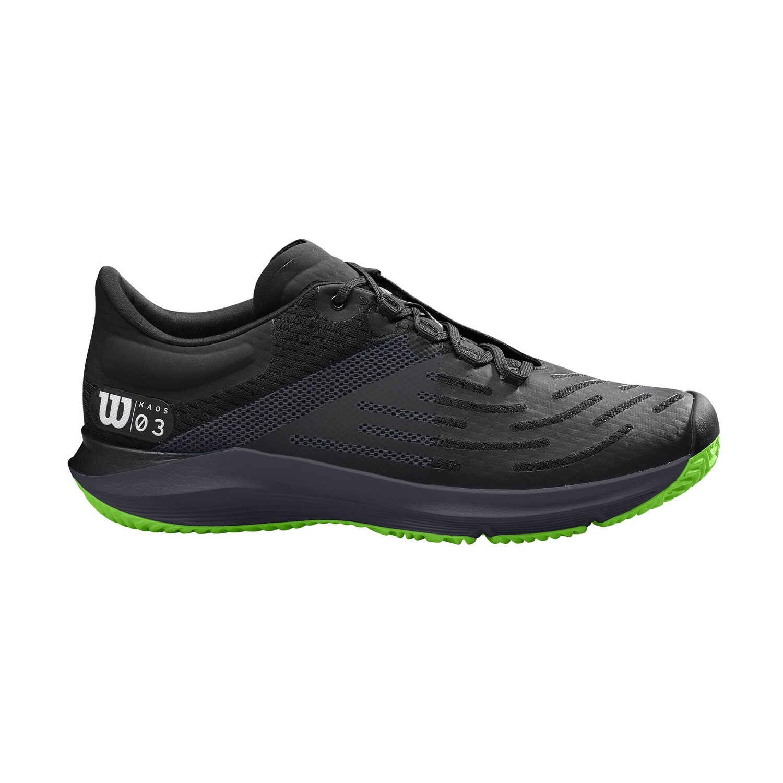 Wilson Kaos 3.0 Men's Tennis Shoes - Black/Green