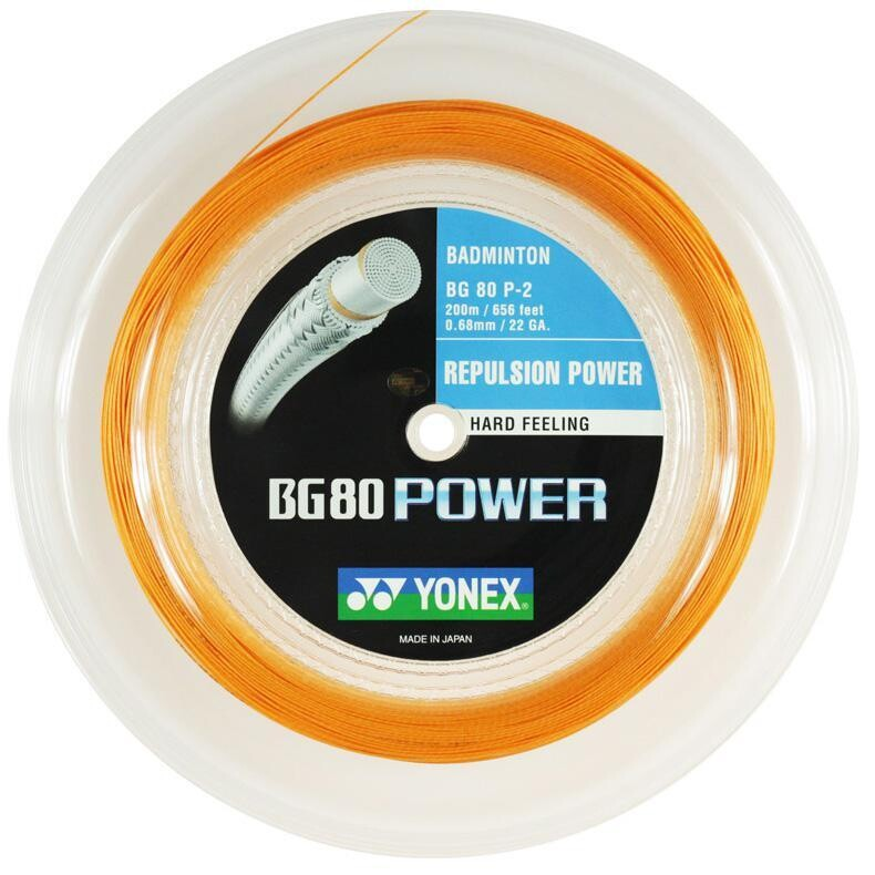 Yonex BG80 Power Badminton String - 200m Reel