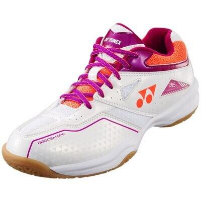 Yonex Power Cushion 36 Ladies Badminton shoes - White/Pink