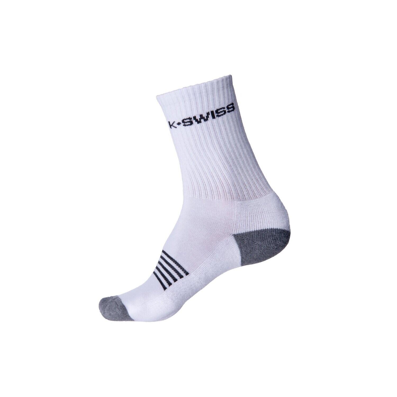 K-Swiss Men's Sport Socks White - 3 Pack
