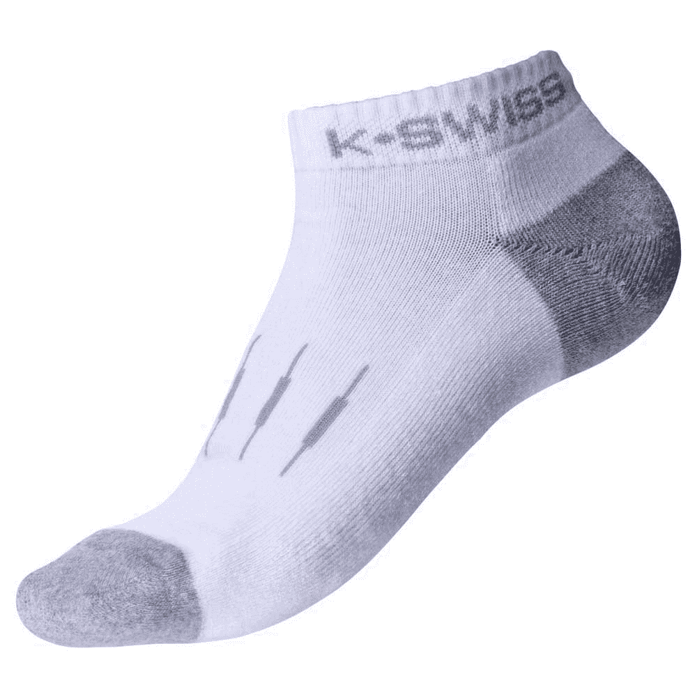 K-Swiss Women's Low Cut Sport Socks White - 3 Pack