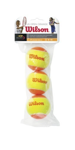 Wilson Orange Transition Mini Tennis Balls - 3 Pack