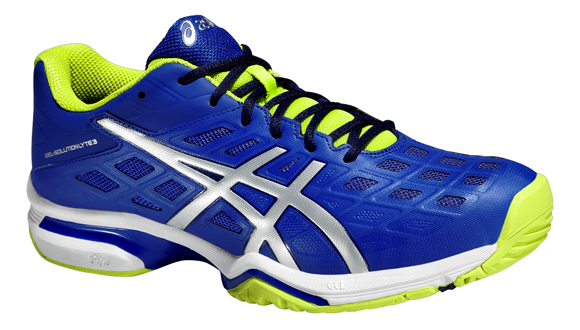 Asics Gel Solution Lyte 3 All Court Tennis Shoes - Blue/Silver/Lime