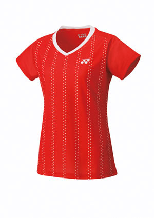 Yonex Womens Cap Sleeve Top - Red