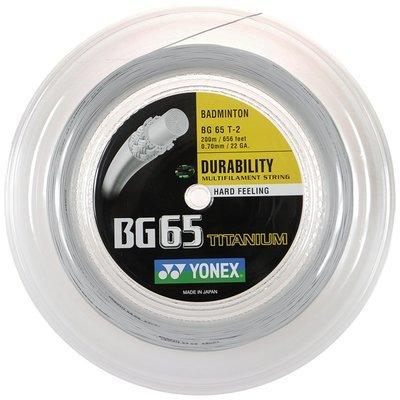 Yonex BG65ti Badminton String - 200m Reel