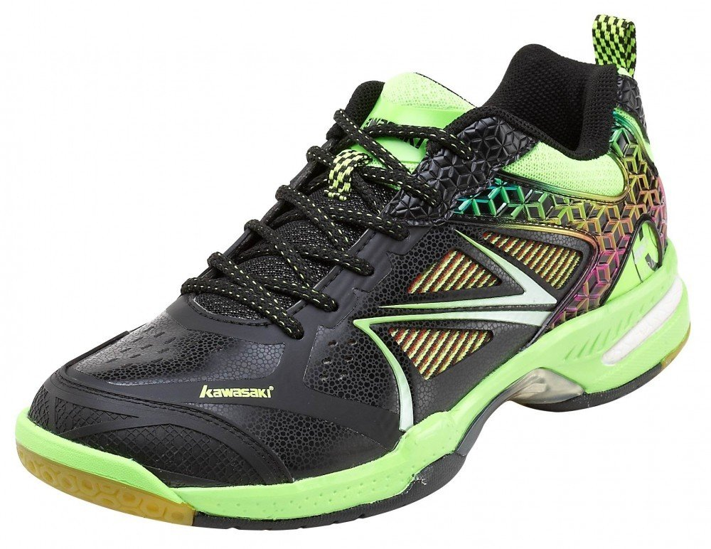 Kawasaki Kuang Feng K615 Badminton Shoes - Black/Green