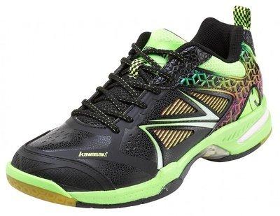 Kawasaki Kuang Feng K615 Badminton Shoes - Black/Green