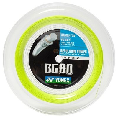 Yonex BG80 Badminton String - 200m Reel