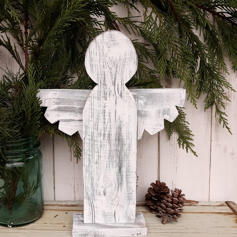Farmhouse Angel Decor, Rustic Wood Angel Decor
