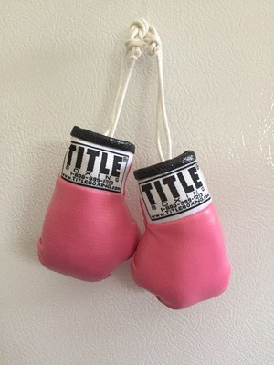 Miniature Boxing Gloves in PINK