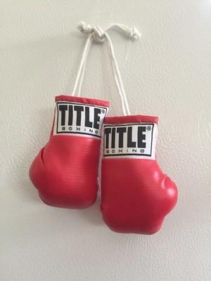 Miniature Boxing Gloves in RED