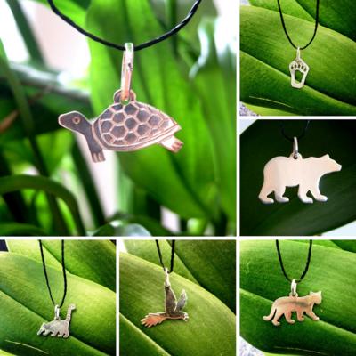 Handmade Silver Animal Pendants / Dijes en Plata Hechos a Mano