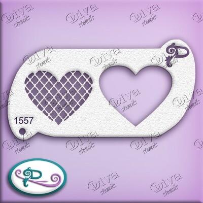 1557 Valentine Heart Crisscross