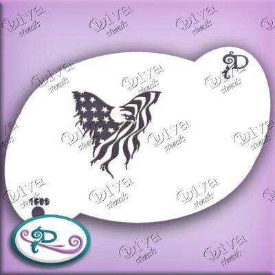 2 Step Eagle Flag Distressed