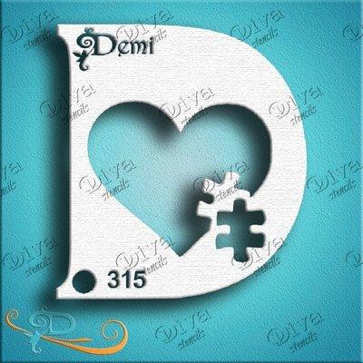 Diva Demi Puzzle Heart