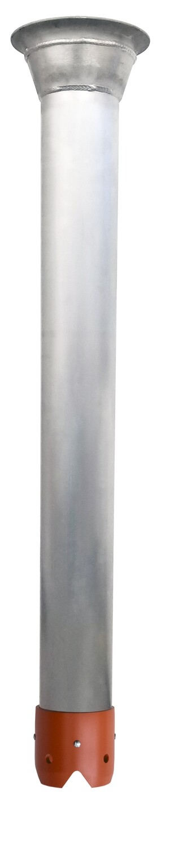 "Dura Tube™ Welded Aluminum 8"" to 6"" Reducer Flange / Orange Plastic Hydro Crown"