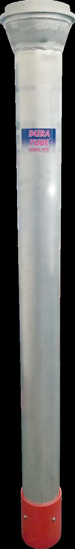 "Dura Tube™ Aluminum Dig Tube w/8"" Male Reduced to 6"" BandLock® Style w/Hydro HDPE Cuff"
