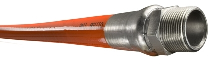 "Piranha® Mainline Theromoplastic Sewer Cleaning Hose - [Orange - 1"" x 500' - 2500 PSI]"