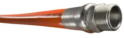 "Piranha® Mainline Theromoplastic Sewer Cleaning Hose - [Orange - 1"" x 600' - 2500 PSI]"