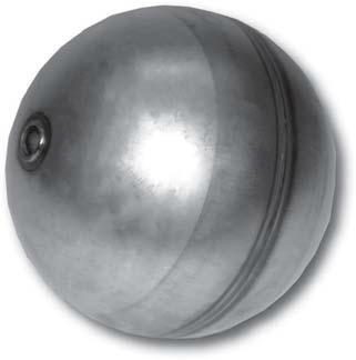 "6"" Vactor® / Vac-Con® Type Stainless Steel Float Ball"