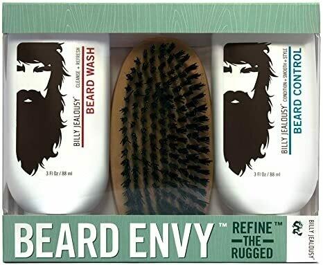 Billy Jealousy Beard Envy 3 Piece Kit - 88ml X 2 + Brush