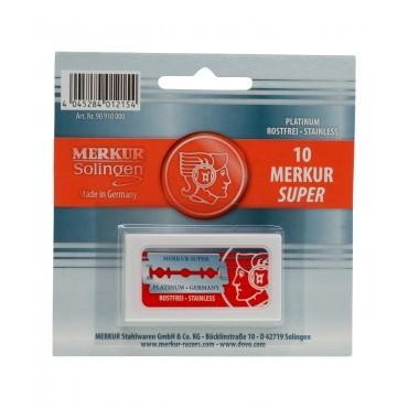 Merkur Super Platinum DE Safety Blades (10 Blades/Pack)