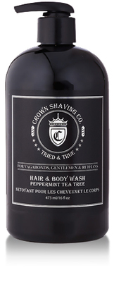 Crown Peppermint Tea Tree Hair & Body Wash - 473ml