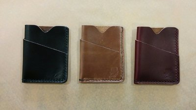 Popov Leather Card Holders w/ Bill Pocket