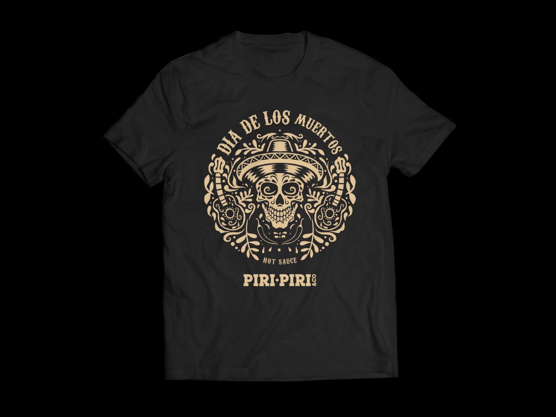 T-Shirt Dia de Los Muertos - Caveira