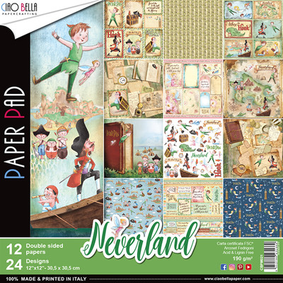 Ciao Bella NEVERLAND 12x12 Paper Pad