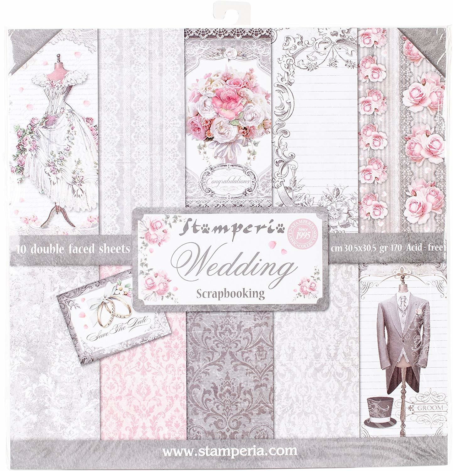 STAMPERIA WEDDING 12x12 Paper Set