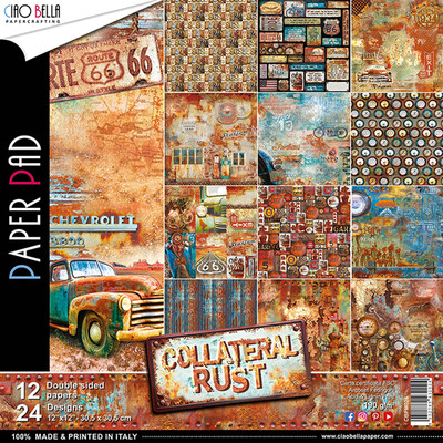 Ciao Bella COLLATERAL RUST 12x12 Paper Pad
