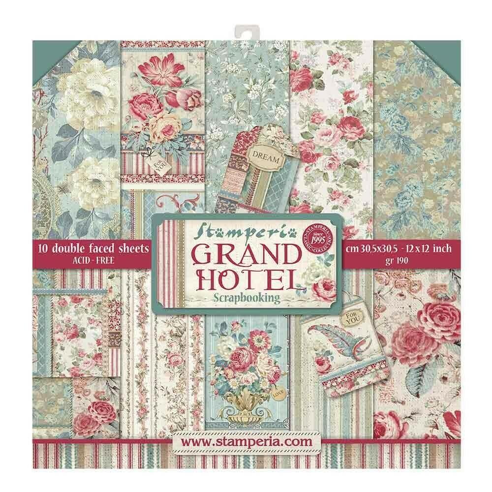 STAMPERIA GRAND HOTEL 12X12 Paper Set