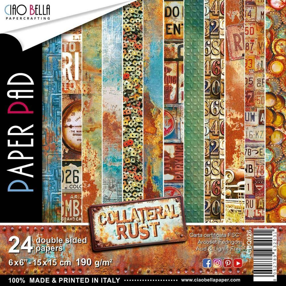 Ciao Bella COLLATERAL RUST 6x6 Paper Pad