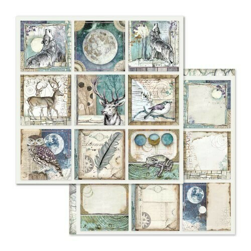STAMPERIA COSMOS CARDS12X12 Single Sheet