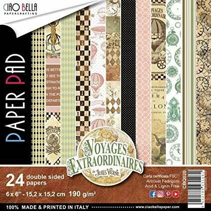 Ciao Bella VOYAGES EXTRAORDINAIRES 6x6 Paper Pad