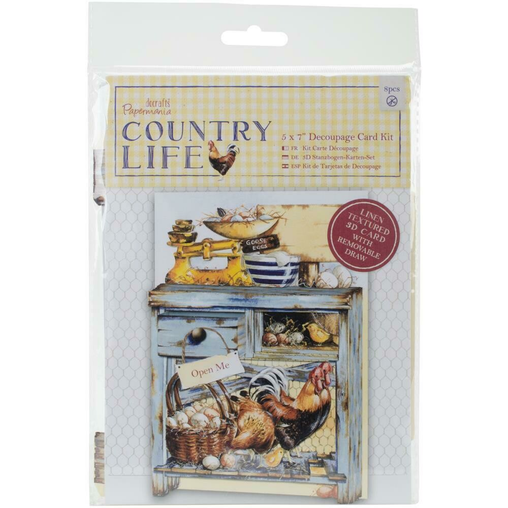 "Papermania COUNTRY LIFE 5""x7"" Decoupage Card Kit"