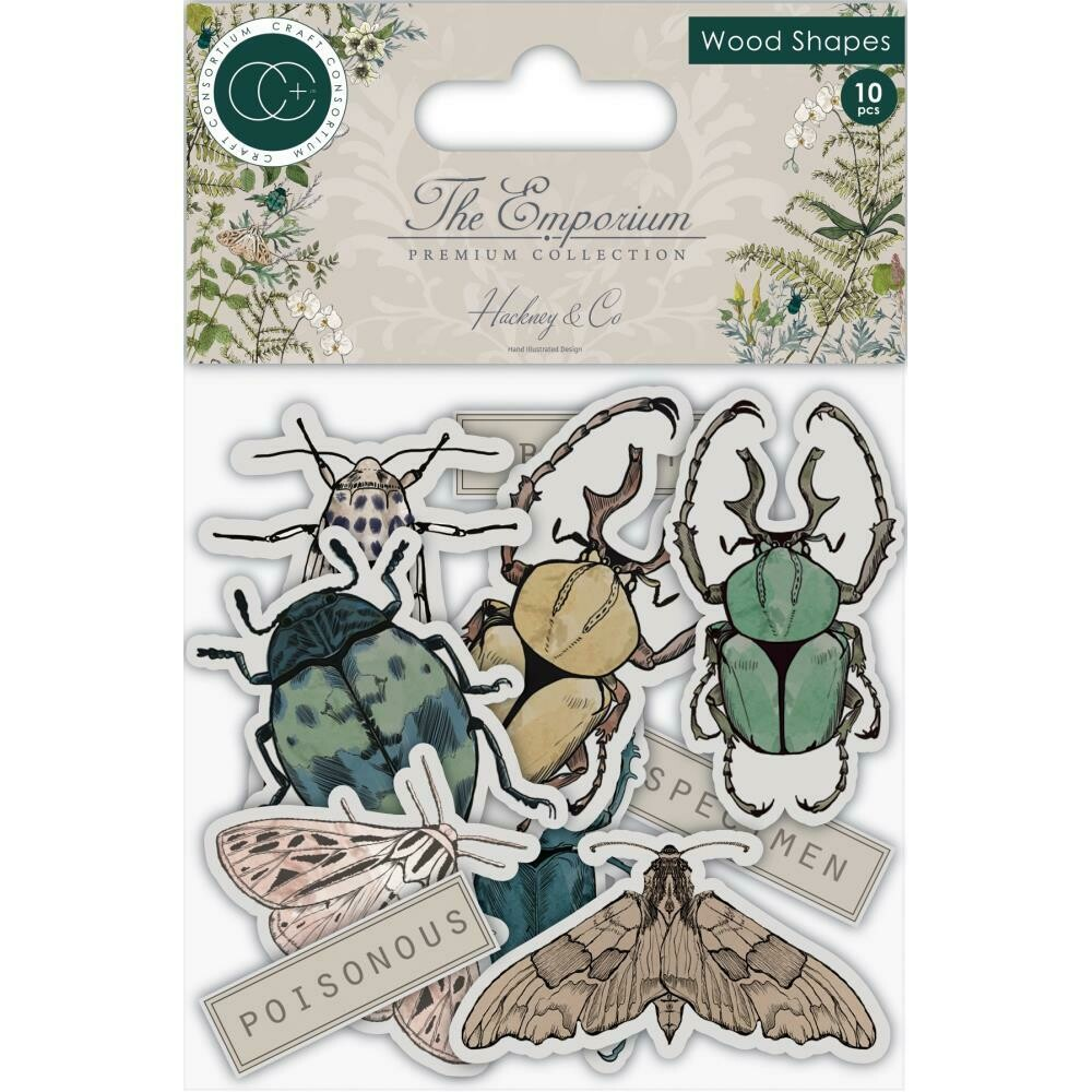 Craft Consortium - THE EMPORIUM Laser-Cut Wooden Shapes 10/ Pkg