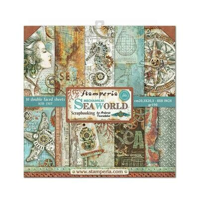 STAMPERIA MECHANICAL SEAWORLD 8x8 PAD