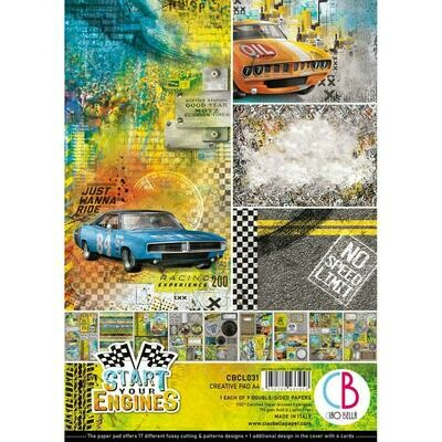 Ciao Bella START YOUR ENGINES A4 Creative Pad