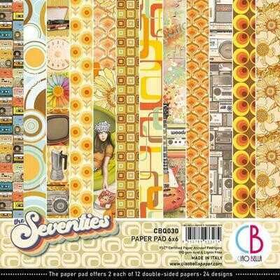 Ciao Bella THE SEVENTIES 6x6 Paper Pad
