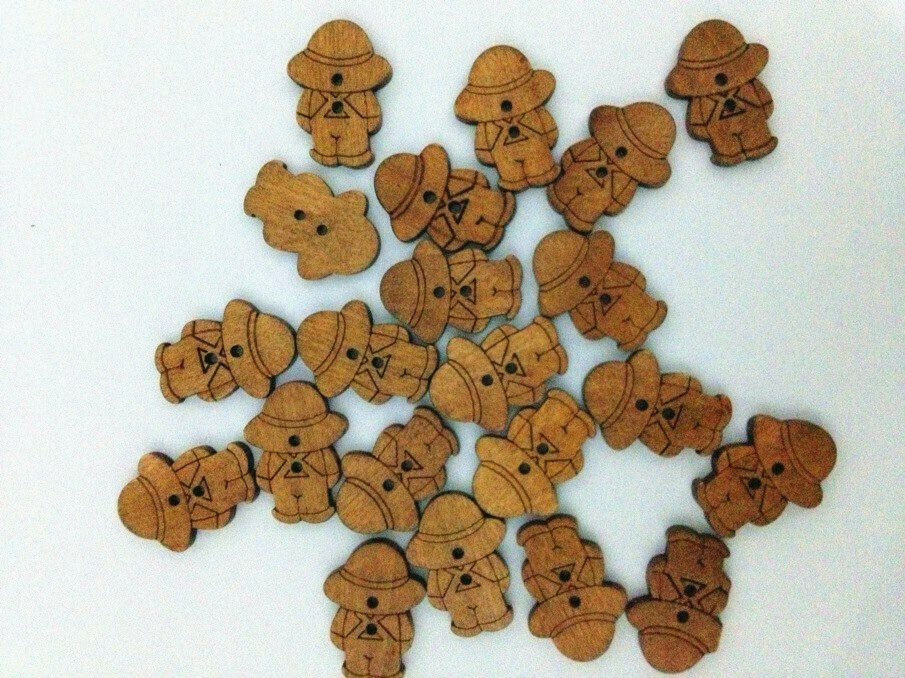 Wooden Buttons - Click to Select