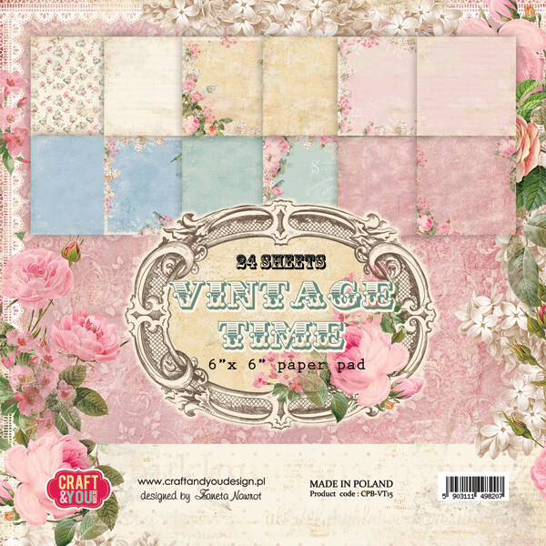 Vintage Time 6x6 paper pack