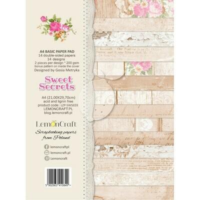 A4 Basic Paper Pad - Sweet Secrets