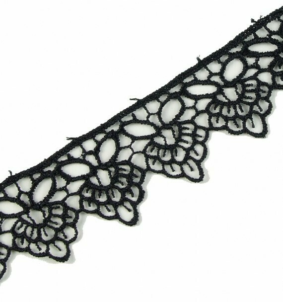 Duchess Guipure Lace - Black