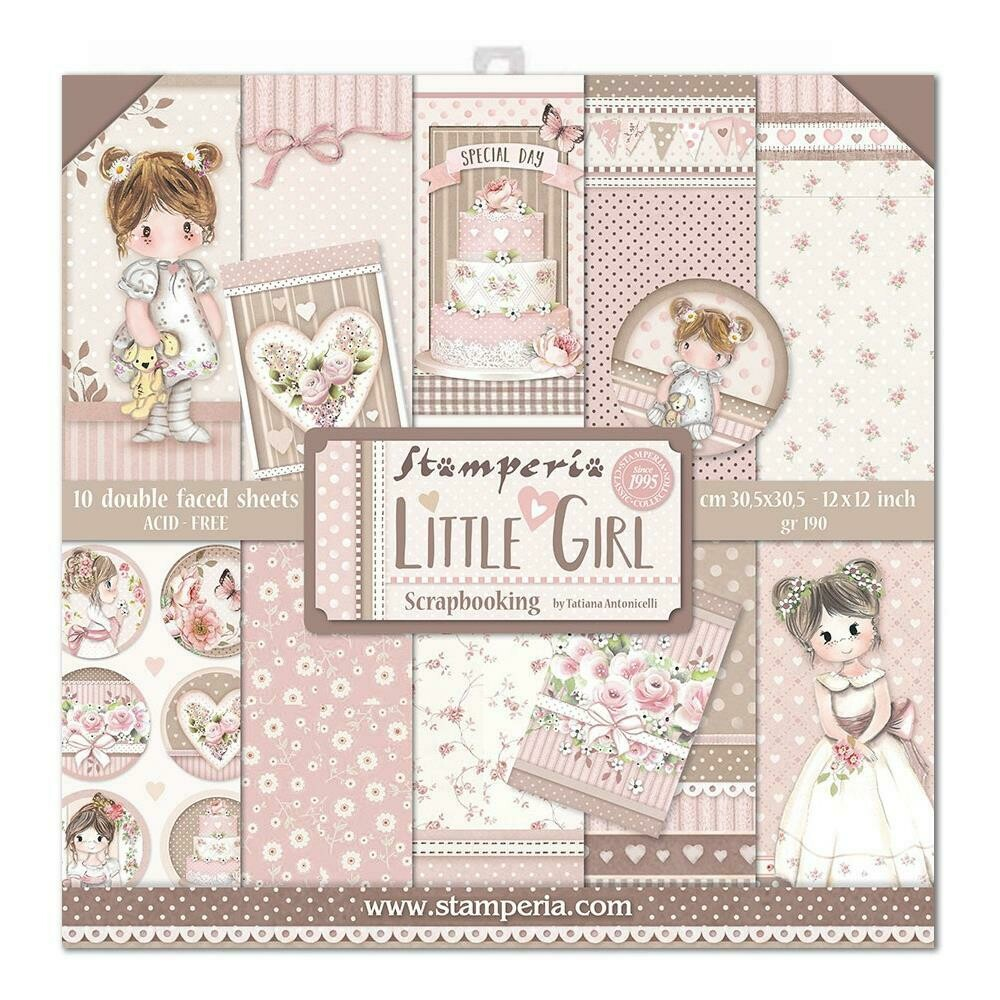 STAMPERIA LITTLE GIRL 12X12 Paper Set