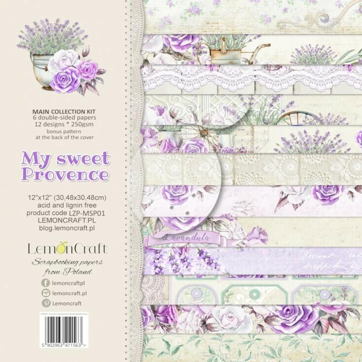 My Sweet Provence 12x12 Paper Set